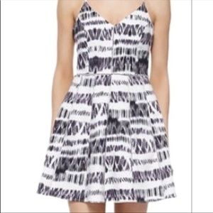Parker whitefield abstract print dress size medium